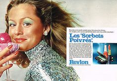 "Revlon ""Les Sorbets Poivres"" Cosmetics Ad, 1972"