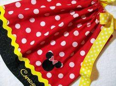 Minnie Mouse Pillowcase Dress by boogerbearpunkinpooh on Etsy, $25.00