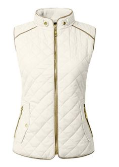 Lightweight Quilted Zip Vest