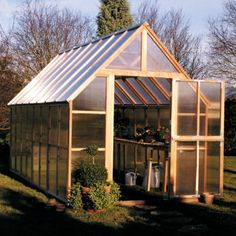 Sunshine Wooden Greenhouse 8 x 16 Mt. Rainier by Sunshine Garden House. $4479.99. Each Sunshine Wooden Greenhouse 8 x 16 Mt. Rainier is made with a knot-free natural renewable redwood frame.. Your Sunshine Wooden Greenhouse 8 x 16 Mt. Rainier will give you room to grow and protect your favorite plants. Standing nearly ten feet tall at the peak and eight feet wide, there is plenty of room for growing and relaxing. Each Sunshine Greenhouse 8 x 16 Mt. Rainier is made with a cle...