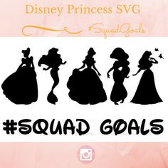 Disney Princess SVG Squad Goals SVG Files | Clipart in Svg for Cricut & Silhouette Machine | Squad goals Disney Princess SVG download file by TiredGirlCompany on Etsy