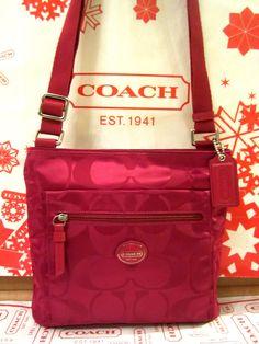 Coach Crossbody Fuschia Purse