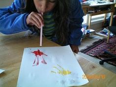 How to Make a Straw Painting With Kids