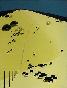 yama-bato:    Grazing in Peace  Artist: Eyvind Earle  Completion Date: 1970