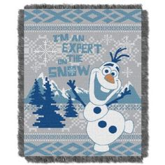 "The Northwest Company Disney's Frozen ""Snow Expert"" Triple Woven Throw Blanket, 48 by 60-Inch"