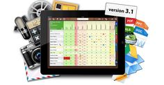 grade book, planner, diary, schedul, seating plans, reports, files & videos, & resource manager all in one app. Spreadsheet engine will calculate averages as you input data.