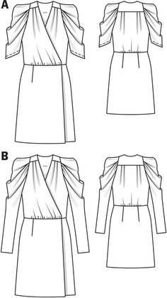 BurdaStyle 2010-12-102B / Sizes 36-44 / Lightweight, softly draping dress fabrics.