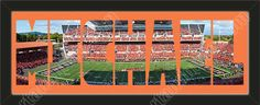 PERSONALIZE YOUR NAME with a framed small Oregon State University stadium panoramic behind your name, single matted in team colors to 27 x 9.5 inches.  $89.99 @ ArtandMore.com