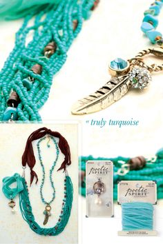Totally turquoise! Check out the new Poetic Spirit jewelry collection at Hobby Lobby!