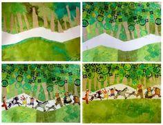 The little gingerbread man Art Club Projects, Traditional Fairy Tales, Art History Memes, Decoupage, Ecole Art, Landscape Artwork, Winter Wonder, Creative Kids, Art Plastique