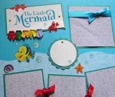 The LITTLE MERMAID 12x12 Premade Scrapbook Pages -- DiSNeY PriNCeSS ArieL