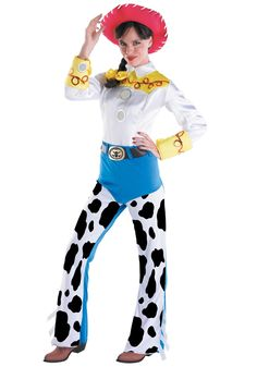 Disney Costumes Jessie Toy Story Deluxe Large Adult Women's Cowgirl Costume - Get in the Halloween spirit this season as a cowgirl from the movie Toy Story. The Jessie deluxe cowgirl costume for women is the perfect Halloween id . Jessie Toy Story Costume, Jessie Costumes, Toy Story Costumes, Adult Costumes, Costumes For Women, Cartoon Costumes, Couple Costumes, Pixar Costume, Costumes Kids