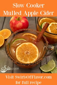 Mulled Apple Cider is a delicious way to kick off the chilly autumn season. Apple cider infuses with cinnamon sticks an fresh ginger in your slow cooker for a flavorful beverage bursting with fall flavors. Just add Bourbon and slices of clementine and lime for an easy spiked apple cider that will surely become a fall favorite!
