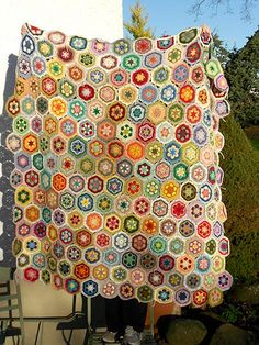 African Flower Blanket | It's pretty big now but I still don… | Flickr