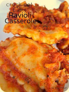 Crock Pot Cheesy Ravioli Casserole Recipe | Six Sisters' Stuff