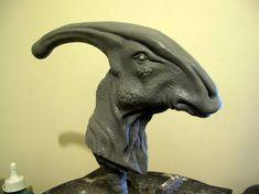 Parasaurolophus walkeri 2 by Thomasotom on DeviantArt Sculptures, Lion Sculpture, Jurassic Park World, Prehistory, Figure Skating, Sculpting, Geek Stuff, Creatures, Deviantart