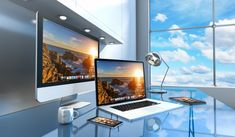 Glass Office, Glass Desk, Interior Photo, Interior Modern, Change Picture, Modern Desk, 3d Rendering, Interior Rendering, Modern Glass