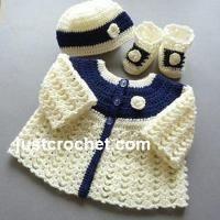 Crocheting: FJC92-Matinee Set baby crochet pattern