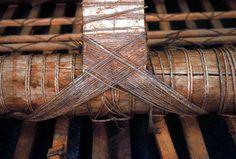 Weaving inside Samoan Fale.