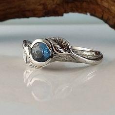 Hoja y ramita de piedra o anillo de por DawnVertreesJewelry en Etsy