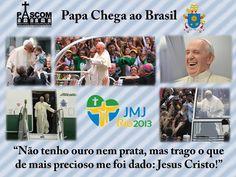 Papa Francisco no Rio de Janeiro - Brasil dias 22/07/2013. Em seu primeiro contato com o público no Brasil, logo após desembarcar no aeroporto internacional do Rio de Janeiro, o papa Francisco levou milhares de fieis às ruas do centro da capital fluminense.
