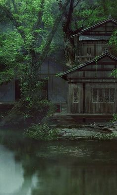 Moody, but still peaceful. Anyone know the artist? Would love to give credit.