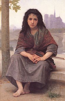 """""""The Bohemian"""" by William-Adolphe Bouguereau, 1890, oil on canvas"""