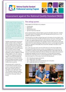 The National Quality Framework has established a continuous cycle for early childhood settings, involving ongoing reflection, improvement and—importantly—external assessment against the National Quality Standard. The first round of quality ratings for early childhood services were released by the Australian Children's Education and Care Quality Authority ACECQA on 1 May 2013, and the news was good: nationally, more than half of the services assessed met the standard.