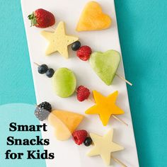 Filled with vitamins and just the right amount of calories for growing kids, these 12 nutritious #snack ideas from parents.com will be a hit with your family. #myplate