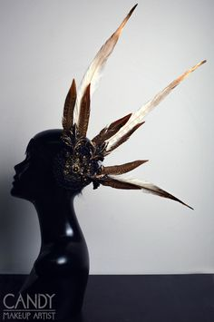 This is a light weight headdress. Ideal for festivals, parties and events or if you want to wear it all day long. The decoration is only on the left side of the head. It's decorated with several, good quality,  handmade ornaments, feathers, rhinestones and other small details. The headdress is made with an elastic band on the back for a good fit.  100% handmade