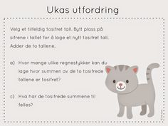 ukas utfordring Swedish Language, Norway, Teaching, Education, Kids, Maths, Puzzles, Barn, First Class