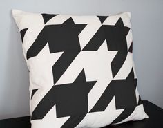 Houndstooth Pillow Cover in Black and Ivory  Any by decoYellow, $64.00