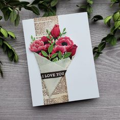Unbearably Thankful Stamp Set and January Kit Giveaway — Del & Artie Fun Fold Cards, Folded Cards, 3d Cards, Hero Arts Cards, Card Kit, Large Flowers, Thank You Cards, Note Cards, Deco