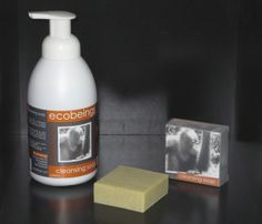 cleansing soap - foaming & bar - 100% natural, no palm oil, fragranced with Heilala vanilla and lemon essential oil.