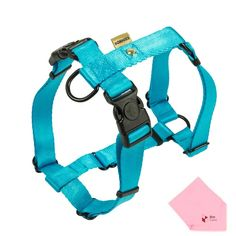 BORNIER Quick Release Buckles (Dual Quick-Locks) Smooth, Comfortable and Easy-Breathing H-Style Dog Harness (Harness Only, Leash Not Include) (Comes W/ BoxCave Microfiber Cleaning Cloth) ** Review more details here(This is an affiliate link and I receive a commission for the sales) : Cat Collar, Harness, Leash