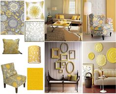 grey and yellow living room | gray and yellow living room | For the Home