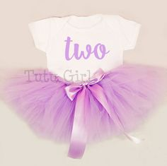 Girls Purple Birthday Outfit Purple Tutu Outfit 2nd by TutuGirl
