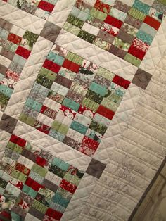 Blitzen stamp quilt at Hollyhill - close up