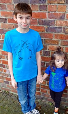 Looking for a cute kids gift? Our graphic tees are a fun gifts for girls or boys! Cute kids clothes like our narwhals or Octopus shirt are great for school or play. Fun, trendy, cool kids shirts made of cotton, and printed in Seattle with eco friendly inks. Get one today: https://www.etsy.com/listing/273876230