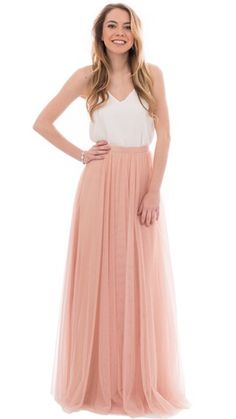 Revelry's bridesmaid Skylar maxi tulle skirt is available in 20+ colors! Blush, purple, nudes, anything you can imagine! Shop trendy, affordable, designer quality bridesmaids dresses and bridesmaids separates by Revelry - under $150. Mix and match bridesmaids separates for the Pinterest perfect look! Try on bridesmaid dresses at home and enjoy free shipping on Sample Boxes. Swoon over our fashion-forward collection featuring convertible bridesmaid dresses and mix & match dresses in chiffon…