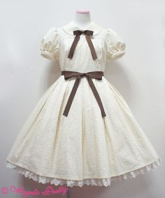 Classic garden OP by Angelic Pretty in Ivory
