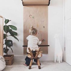 Children's creativity begins with the empty paper roll. # starts with - Baby room decoration - Kids Playroom Ideas Decorar Habitacion, Kids Play Spaces, Play Room Kids, Toddler Play Area, Kids Room For Girls, Ikea Girls Room, Deco Kids, Diy For Kids, Kids Playing