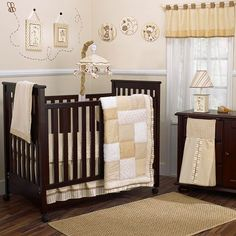 """CoCaLo Snickerdoodle Crib Bedding Set - Cocalo - Babies """"R"""" Us Love this, needs a little more color, but love it. Nursery Bedding Sets Girl, Nursery Room Decor, Nursery Furniture, Nursery Ideas, Girl Nursery, Dark Furniture, Room Ideas, Nursery Inspiration, Nursery Rhymes"""