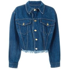Jean Paul Gaultier Vintage Denim Jacket ($322) ❤ liked on Polyvore featuring outerwear, jackets, blue, jean-paul gaultier, long sleeve denim jacket, jean jacket, long sleeve jacket and blue denim jacket
