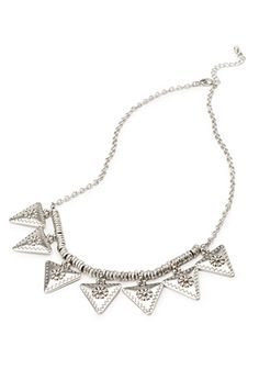 $7.90 Etched Triangle Necklace | FOREVER21 - 1000116684