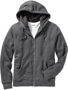 Men's Sherpa-Lined Zip-Front Hoodies | Old Navy size L I got one of these a few years ago, mine has holes in it i wear it so much :)