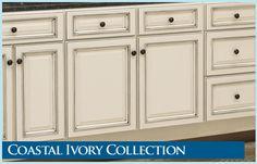 antique ivory kitchen cabinets   RTA Kitchen Cabinet Line- Coastal Ivory