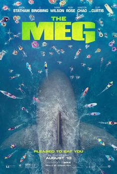has just released the first trailer for their upcoming sci-fi/horror film The Meg, featuring Jason Statham taking on a pre-historic shark known as the Megalodon. Megalodon, Meg Movie, Movie 20, Meg Shark Movie, Shark Film, Jaws Movie, Hd Movies Online, 2018 Movies, Jason Statham