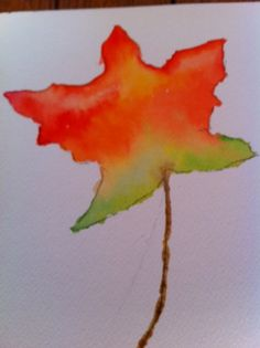 Autumn Leaf Art Project for Kids :: PragmaticMom