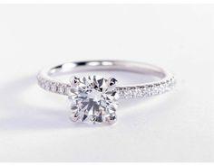 1.2 Carat Diamond Riviera Pavé Diamond Engagement Ring | Recently Purchased | Blue Nile